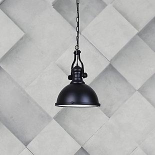 A Touch of Design Nolan 1-Light Dome Pendant, Black, , rollover