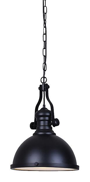 A Touch of Design Nolan 1-Light Dome Pendant, Black, , large