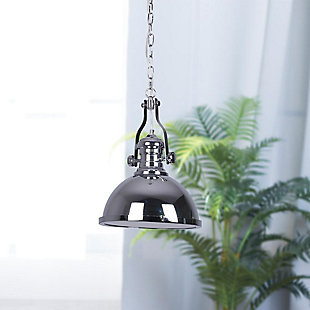 A Touch of Design A Touch of Design Nolan 1-Light Pendant, Chrome, , rollover