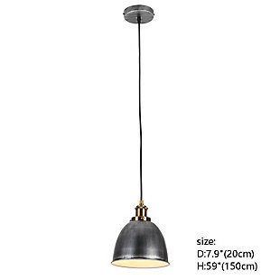 A Touch of Design 1-Light Dome Pendant, Silver, , large