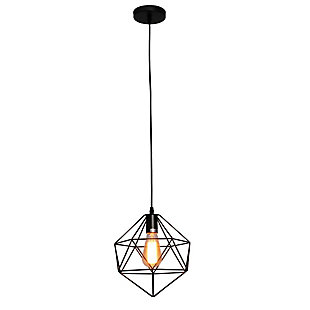 A Touch of Design A Touch of Design 1- Light Cage-Style Pendant, Black, , large