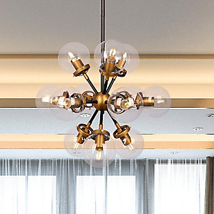 A Touch of Design 12-Light Glass Globe Modern Chandelier, , rollover