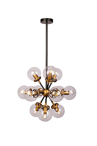 A Touch of Design 12-Light Glass Globe Modern Chandelier, , large