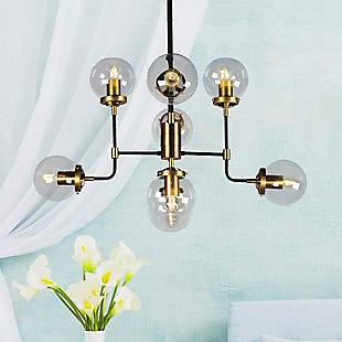 A Touch of Design 8-Light Glass Globe Modern Chandelier, , rollover