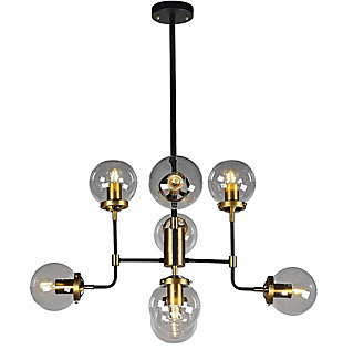 A Touch of Design A Touch of Design 8-Light Glass Globe Modern Chandelier, , large