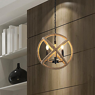 A Touch of Design 4-Light Rope Orb Chandelier, , rollover