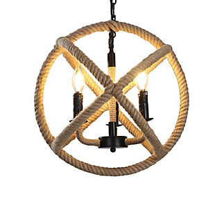 A Touch of Design 4-Light Rope Orb Chandelier, , large