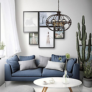 A Touch of Design A Touch of Design 8-Light Wrought Iron Chandelier, , rollover
