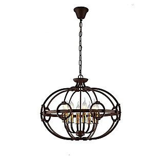 A Touch of Design A Touch of Design 8-Light Wrought Iron Chandelier, , large
