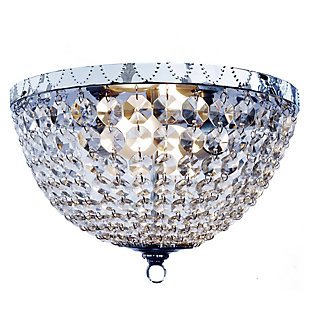 Home Accents Elegant Designs 2 Light Victoria Crystal Rain Drop Flushmount, , large