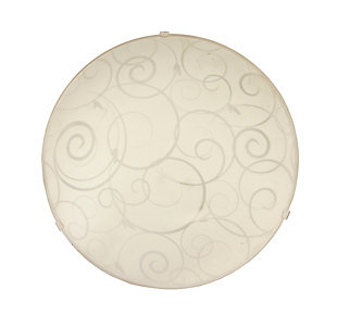 Home Accents Simple Designs Round Flushmount with Scroll Swirl Design, , large