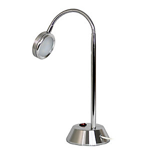Home Accents Simple Designs Chrome High Power LED Desk Lamp w Flexi Neck, , large