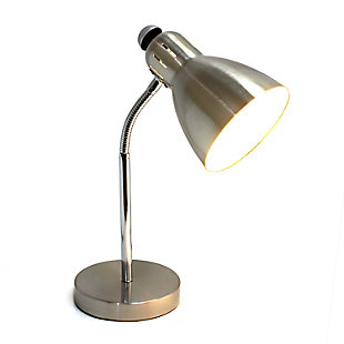 Home Accents Simple Designs Semi-Flexible Desk Lamp, Brushed Nickel, , large