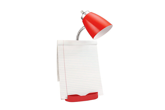 Home Accents LimeLights Red Organizer Lamp w Device Holder & Charging Outlet, Red, large