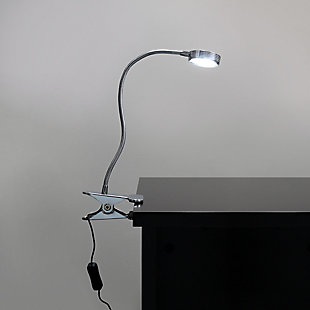 Home Accents Simple Designs Chrome High Pwr LED Clip Lamp w Flexi Neck, , rollover