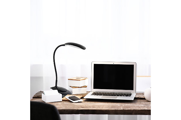 Home Accents Simple Designs Flexi LED Rounded Clip Light, Black, Black, large