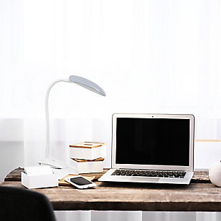 Home Accents Simple Designs Flexi LED Rounded Clip Light, Gray, Gray, rollover