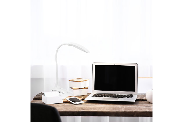 Home Accents Simple Designs Flexi LED Rounded Clip Light, White, White, large