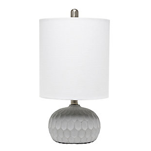Home Accents  Lalia Home Concrete Thumbprint Table Lamp w White Shade, , large