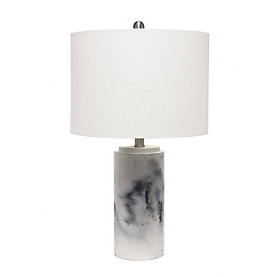 Home Accents  Lalia Home Marbleized Table Lamp w White Fabric Shade, , large