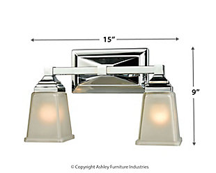 Two Light Sinclair 2 Light Bath Vanity Fixture, , large