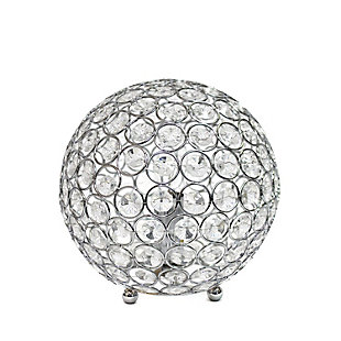 "Home Accents Elegant Designs Elipse 8"" CHR Crystal Ball Sequin Table Lamp, Chrome, large"