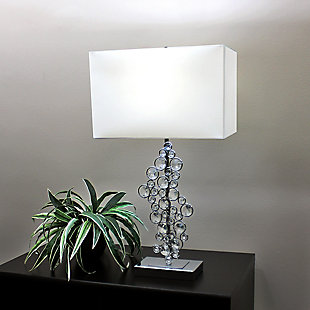 Home Accents Elegant Designs Prismatic Crystal Sequin & Chrome Table Lamp, , rollover