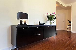 Home Accents Elegant Designs Rectangular Dual Stacked Stone Ceramic Lamp, , rollover