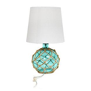 Home Accents Elegant Designs Buoy Nautical Table Lamp w WHT Shade, Aqua, Aqua, large
