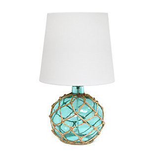 Home Accents Elegant Designs Buoy Nautical Table Lamp w WHT Shade, Aqua, Aqua, large