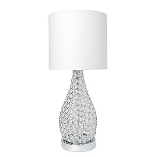 Home Accents Elegant Designs Elipse Crystal & CHR Pinned Decorative Lamp, , large