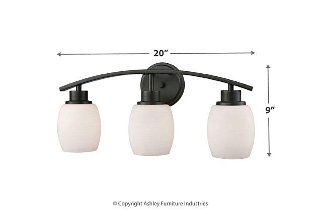 Three Light Casual Mission 3 Light Bath Vanity Fixture, , large