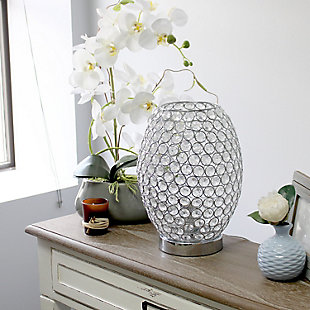 Home Accents Elegant Designs Elipse Crystal & CHR Accent Table Lamp, , rollover