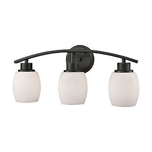 Three Light Casual Mission 3 Light Bath Vanity Fixture, Oil Rubbed Bronze, large