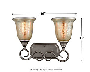 Two Light Georgetown 2 Light Bath Vanity Fixture, , large