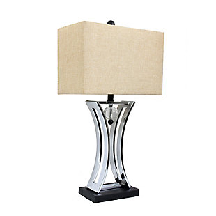 Home Accents Elegant Designs Chrome Executive Business Table Lamp, , large