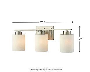 Three Light Bath Vanity Fixture, , large