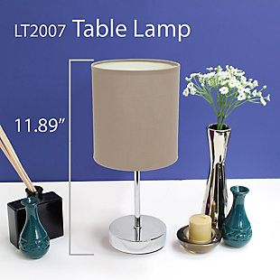 Home Accents Simple Designs CHR Mini Basic Table Lamp w Fabric Shade 2 Pk, , large