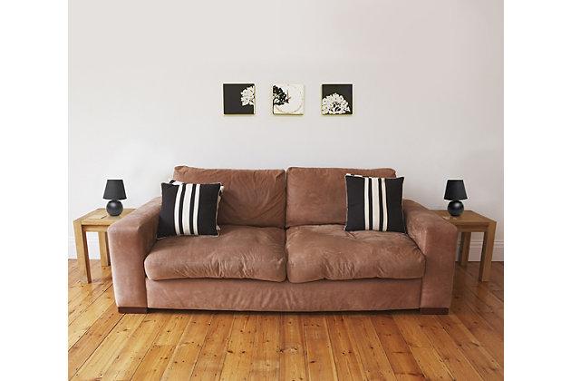 Home Accents Simple Designs Mini Ceramic Globe Table Lamp 2 Pk Set, Black, large