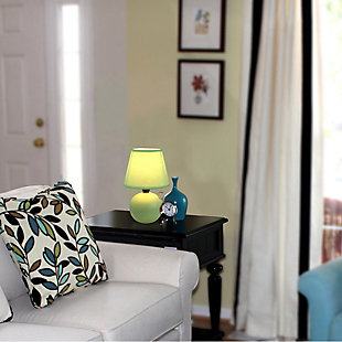 Home Accents Simple Designs Mini Ceramic Globe Table Lamp, Green, large