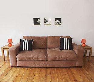 Home Accents Simple Designs Mini Ceramic Globe Table Lamp 2 Pk Set, Orange, large