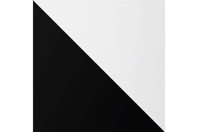 Home Accents Simple Designs Black Stick Lamp with Fabric Shade, White, Black/White, large