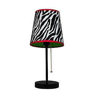 Home Accents LimeLights Zebra Fun Prints Funky Pattern Table Lamp, , large