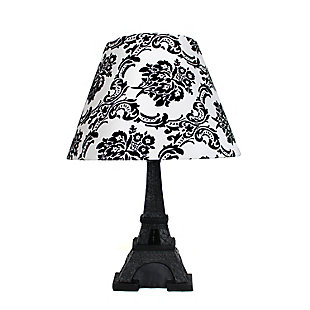 Home Accents Simple Designs Eiffel Tower Paris Lamp with Shade, Black, large