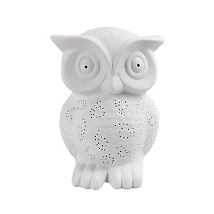 Home Accents Simple Designs Porcelain Wise Owl Shaped Animal Table Lamp, , large