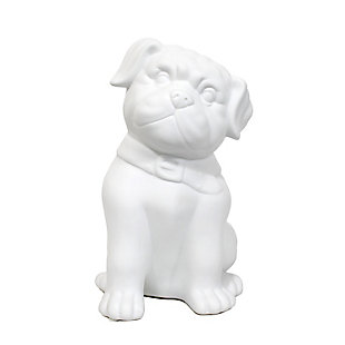 Home Accents Simple Designs Porcelain Puppy Dog Shaped Table Lamp, , large