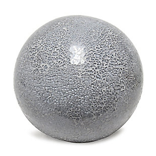 Home Accents Simple Designs 1 Light Mosaic Stone Ball Table Lamp, Gray, Gray, large