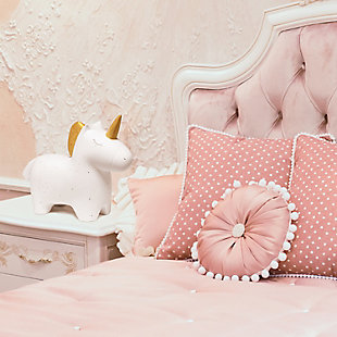 Home Accents Simple Designs Porcelain Unicorn Shaped Table Lamp, , rollover