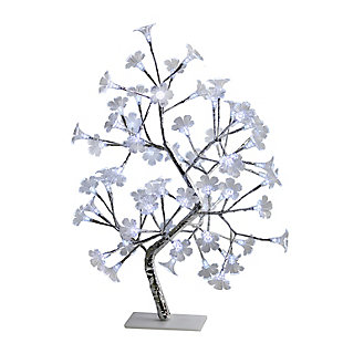 Home Accents Simple Designs White Morning Glory LED Lighted Decorative Tree, , large