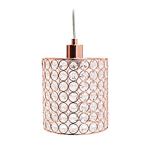 Home Accents Elegant Designs 1 Light Elipse Crystal Cylinder Pendant, RGD, , large